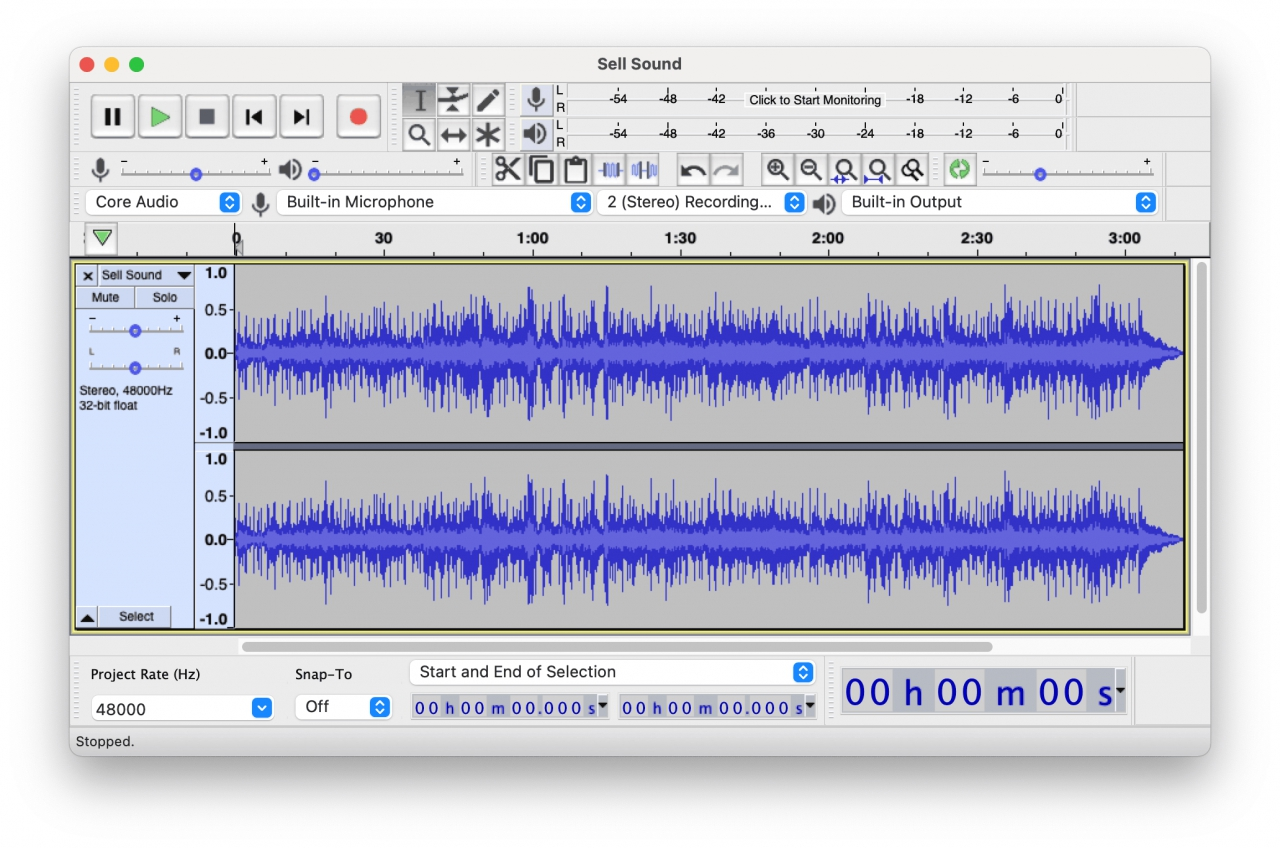 Audacity sound editor to hell you sell audio
