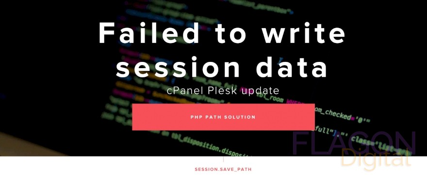 Failed to write session data solution