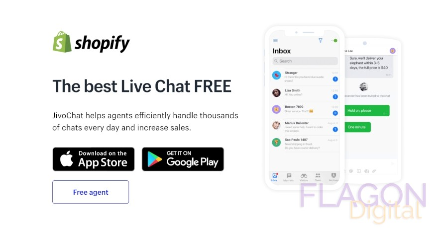 Shopify Live Chat with facebook, telegram, viber and more