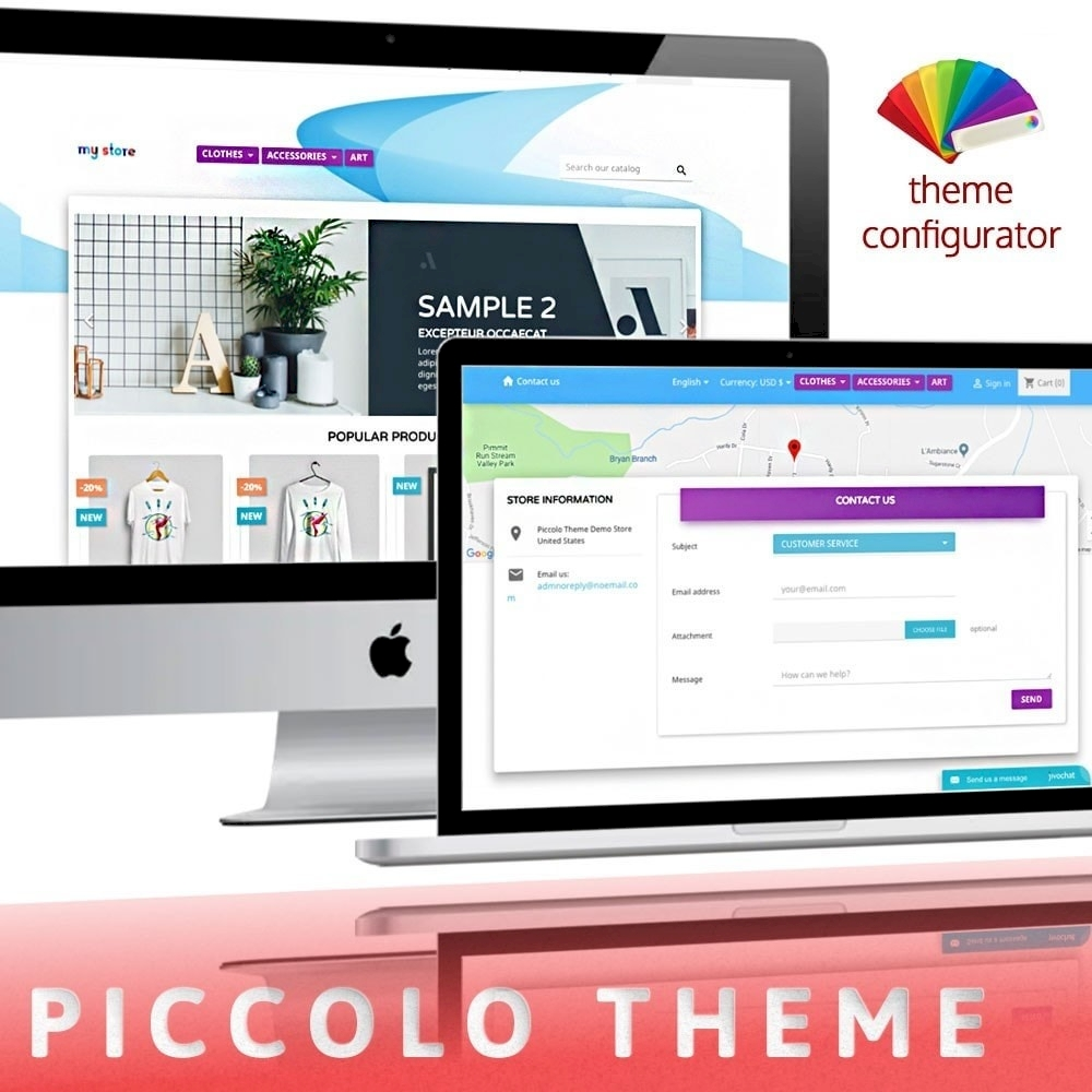 Piccolo PrestaShop theme with Color changer