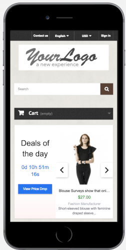 Deals of the Day slider with countdown