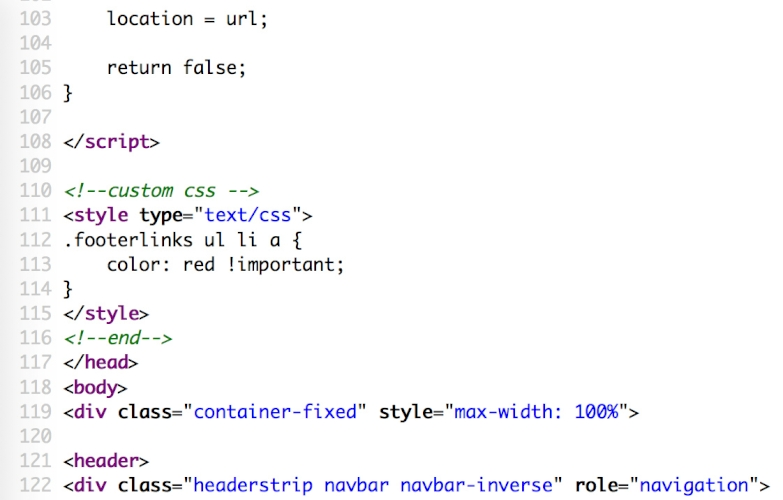 Custom CSS one-click