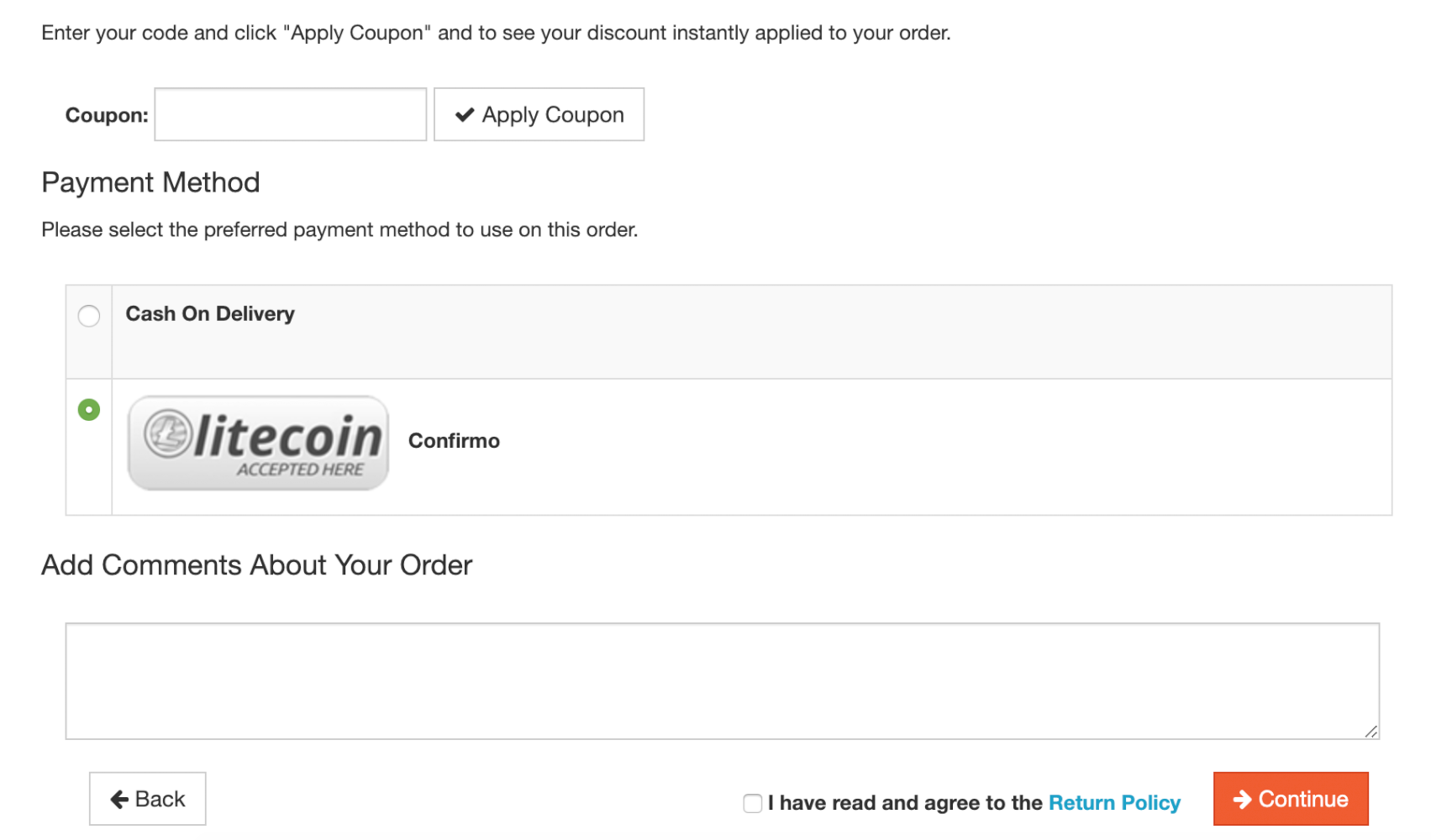 Accept Litecoins  LTC cryptocurrency  payments