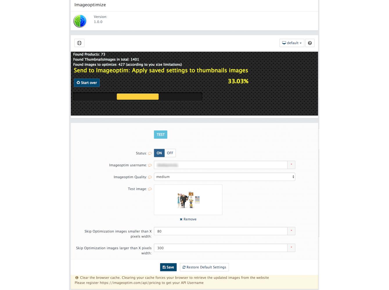 ImageOptim API Integration. Image Compression and Optimization