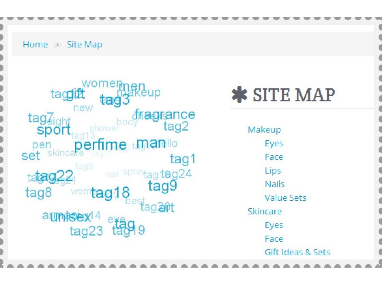 Products Tags Cloud