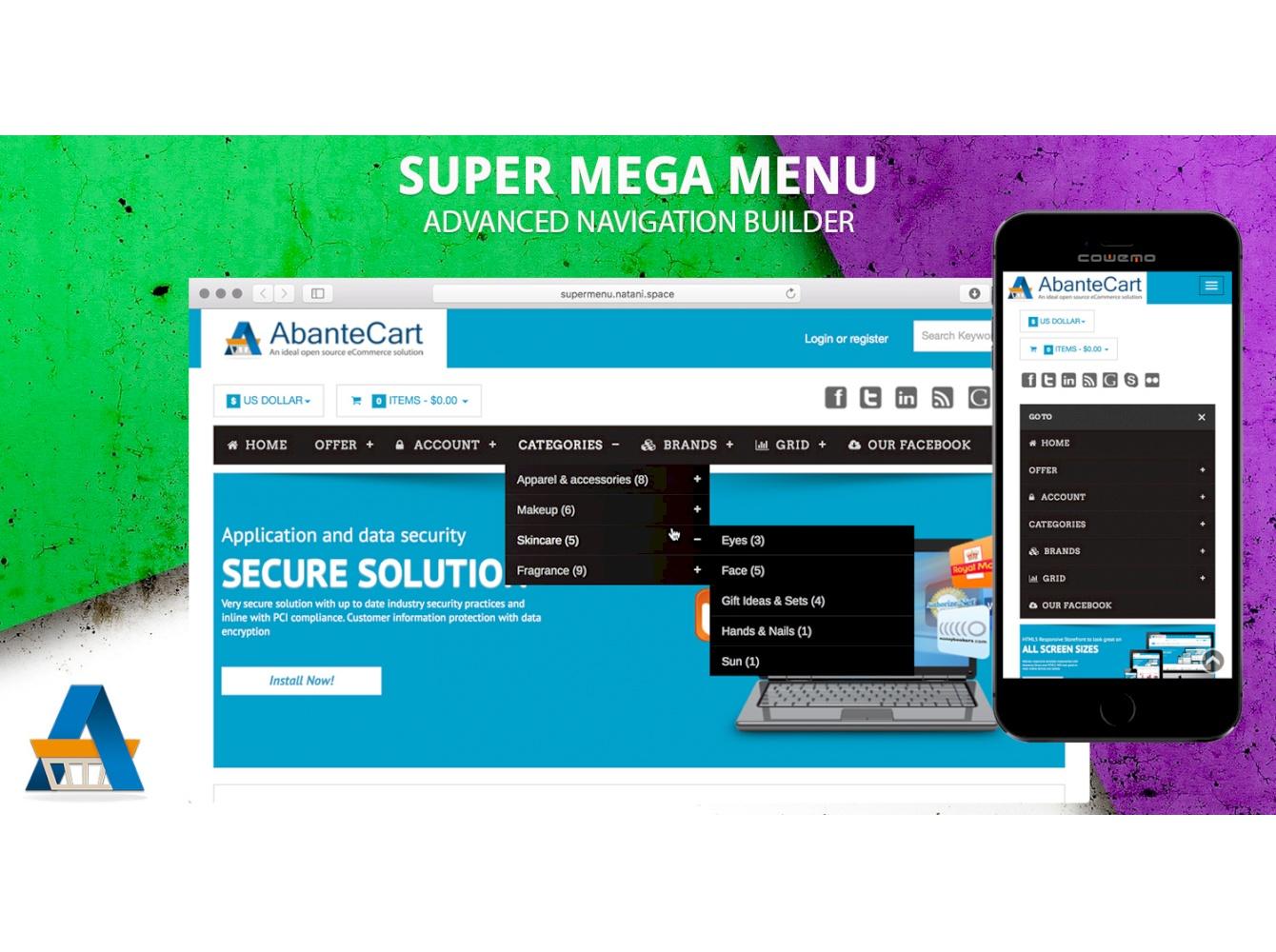 Super Mega menu