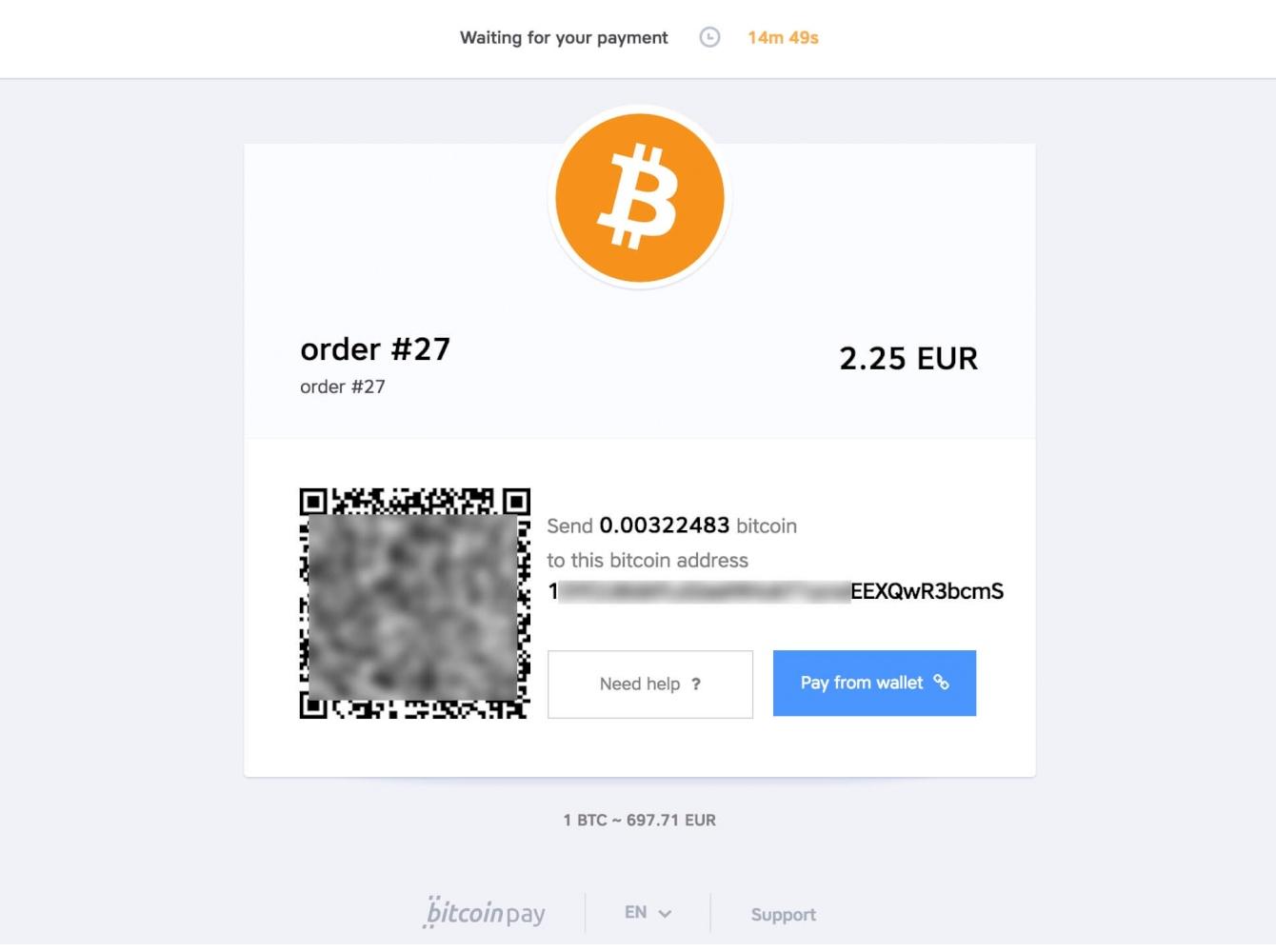 Confirmo (BTC) accept bitcoin