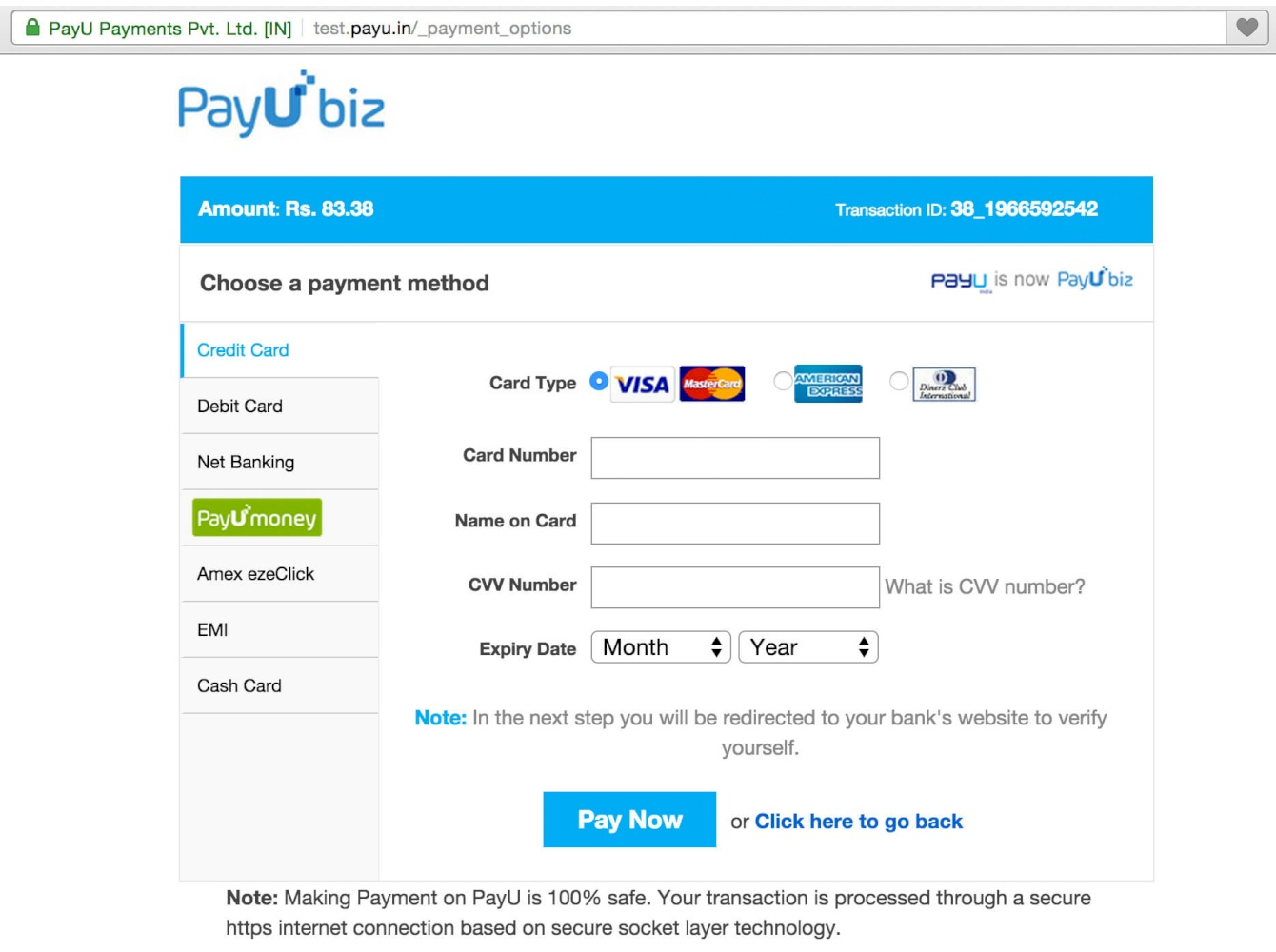 PayU Biz Payment (PayU India)