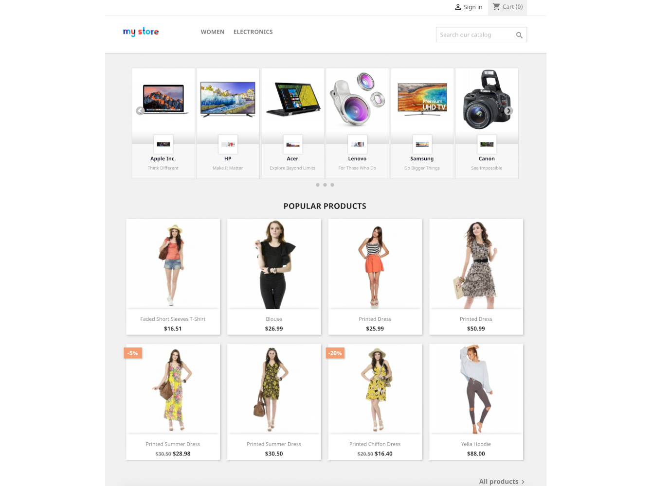 Brands Manufacturers Wall: Listing promo block Module