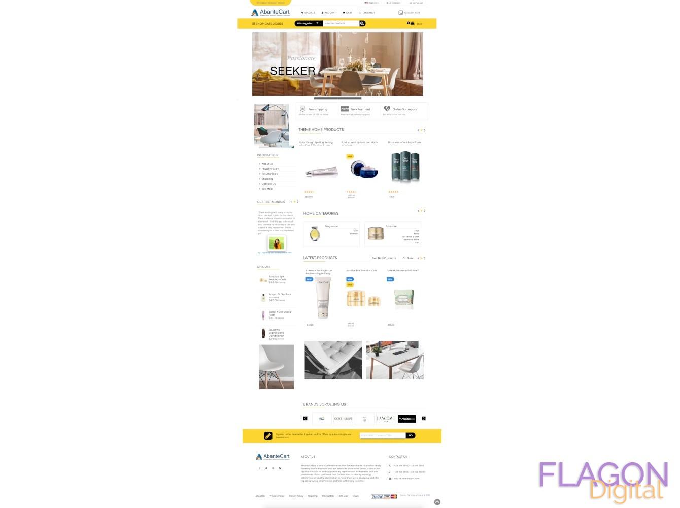Mastrimo Furniture store responsive Abantecart theme