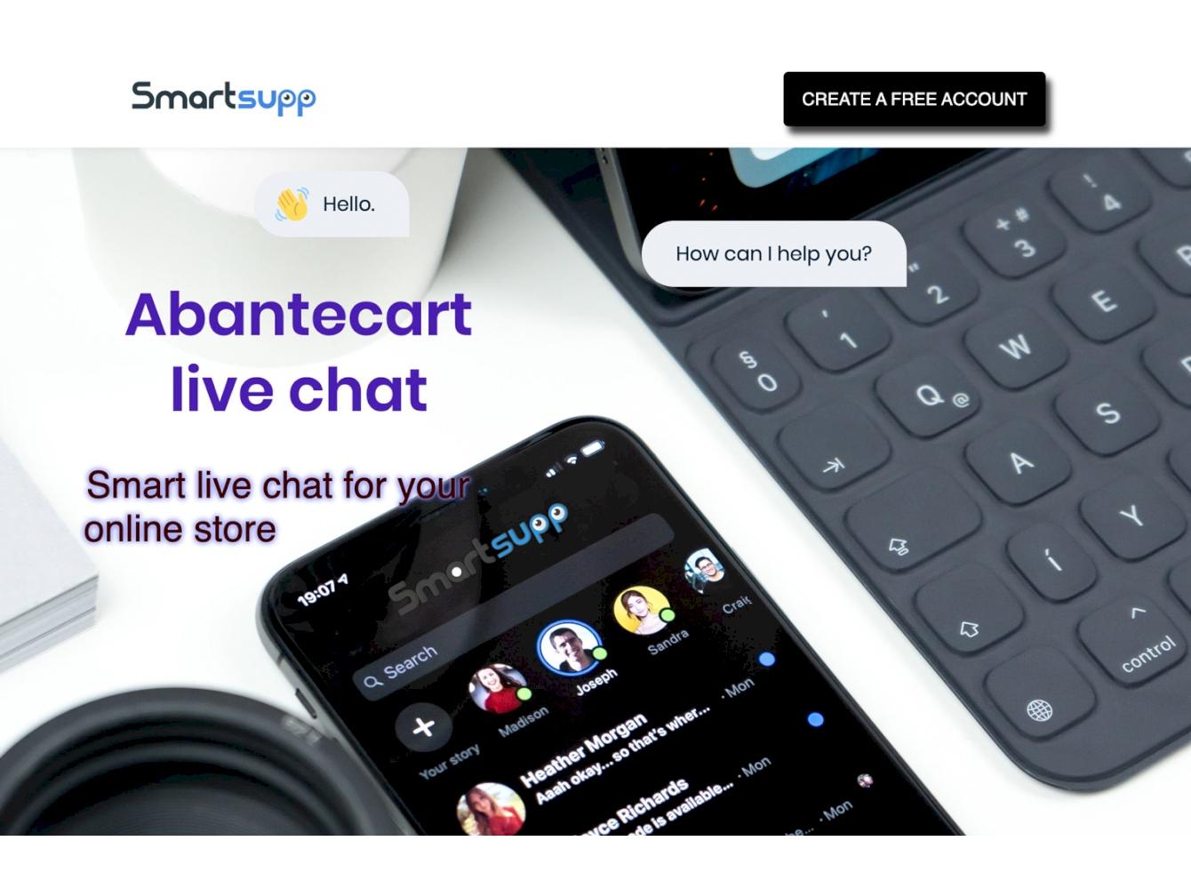 Smartsupp chat abantecart