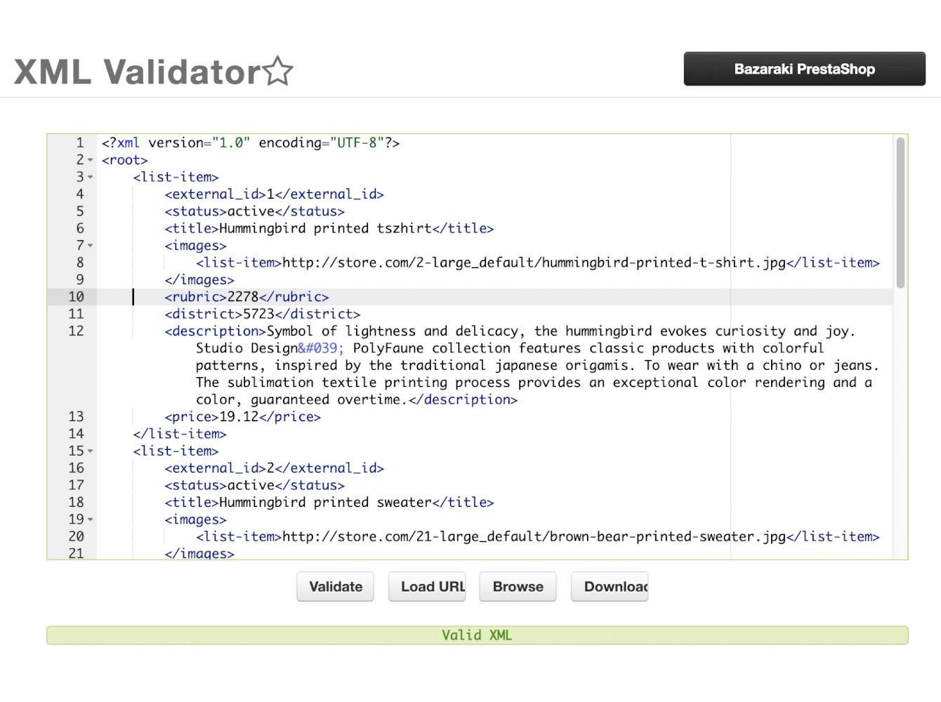 Bazaraki prestashop XML Generator