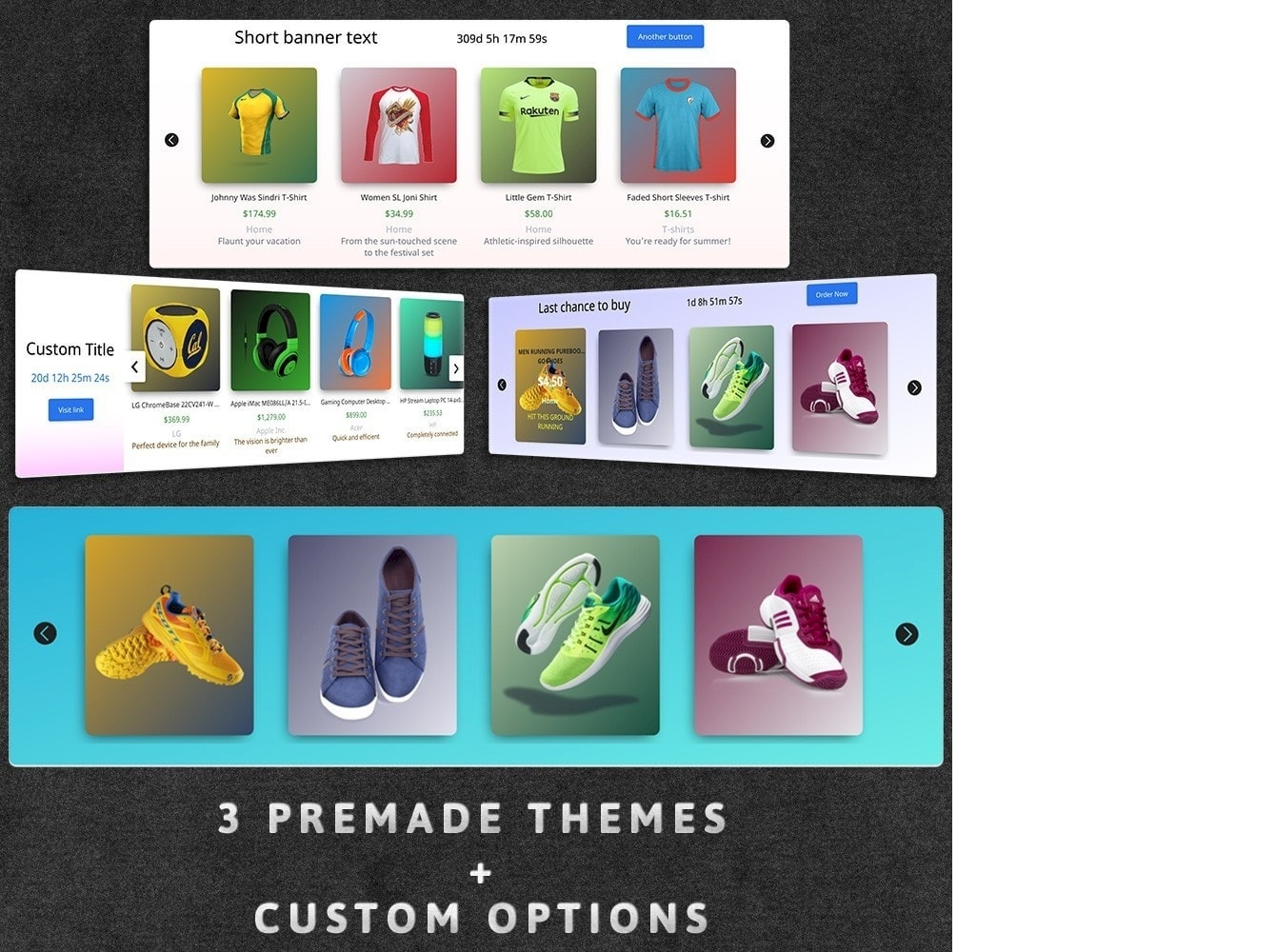 Prestashop product sliders with auto color backgrounds